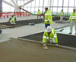 interior floor screeding